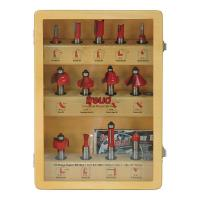 Freud 91-100 Thirteen Piece Super Router Bit Set 1/2 Shank