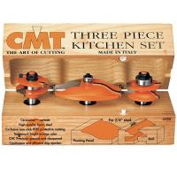 CMT 800.513.11 3 Piece Kitchen Router Bit Set A Ogee/Ogee Profile 1/2