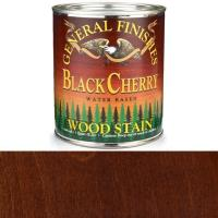 General Finishes Wood Stain Water Based Black Cherry Stain Quart