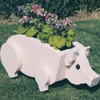 Woodworking Project Paper Plan to Build Pig Planter Plan No. 890