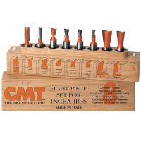 CMT 800.501.11 8 Piece Dovetail And Straight Router Router Bit Set 1/2