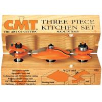 CMT 800.512.11 3 Piece Kitchen Router Bit Set B Bevel/Round Profile 1/