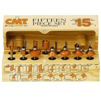 CMT 800.001.00 15-Piece Router Bit Set - 1/4