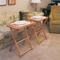 Woodworking Project Paper Plan to Build TV Tables and Stand Plan No. 7