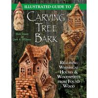 Illustrated Guide to Carving Tree Bark Releasing Whimsical Houses and