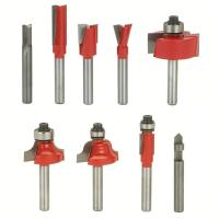 Freud Basic Router Bit Set 9-Piece 1/4