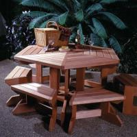 Woodworking Project Paper Plan to Build Picnic Table and Benches