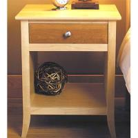 Woodworking Project Paper Plan to Build Maple and Cherry Nightstand