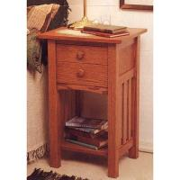 Woodworking Project Paper Plan to Build Arts and Crafts End Table/Nigh