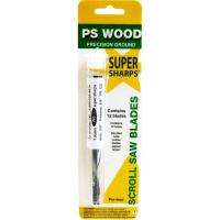 PS Wood Super Sharps Scroll Saw Blade 2 Skip Tooth 12 Pack