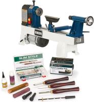 Rikon 6-Speed Mini Lathe Complete Slimline Starter Set