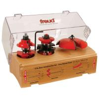 Freud 98-302 Three Piece Door Construction Router Router Bit Set Cove