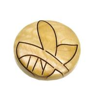 Laurey Tonga Round Wood Knob Maple Leaf 1-3/8