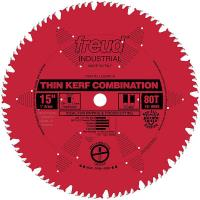 Freud LU83R015 Industrial Thin Kerf Combination Blade with Red Perma-S