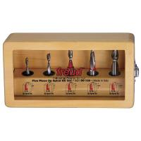 Freud 90-150 Five Piece Up Spiral Router Bit Set