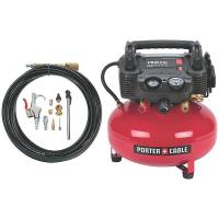 Porter-Cable Oil-Free Pancake Compressor 150 PSI 6 Gallon with accesso