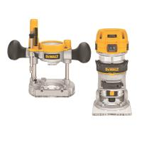 DeWalt Variable Speed Compact Router with LEDs and Plunge Base 1.25HP