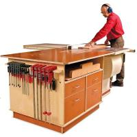 Fine Woodworking Tablesaw Outfeed Cabinet - Paper Plan