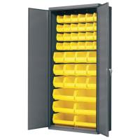 Akro-Mils Cabinet with Flush Doors and Assorted Bins 36