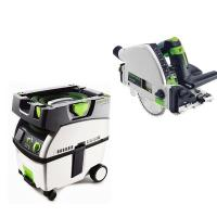 Festool TS 55 REQ Plunge-Cut Saw with T-Loc plus CT Midi Dust Extracto
