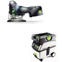 Festool Carvex PSC 420 EB Jigsaw with T-LOC   CT Midi Dust Extractor P