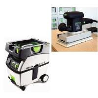 Festool RS 2 E Orbital Finish Sander with CT MIDI HEPA Dust Extractor