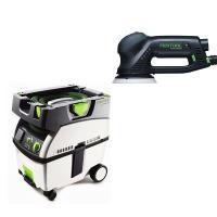 Festool RO 125 Rotex Sander with CT MIDI HEPA Dust Extractor