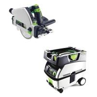Festool TS 55 REQ Plunge-Cut Saw with T-Loc plus CT Mini Dust Extracto