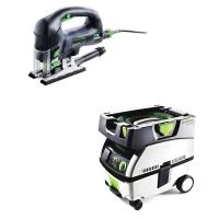 Festool Carvex PSB 420 EBQ Plus Jigsaw with T-LOC   CT Mini Dust Extra