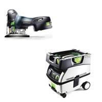 Festool Carvex PSC 420 EB Jigsaw with T-LOC   CT Mini Dust Extractor P