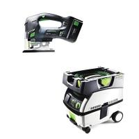 Festool Carvex PSBC 420 EB Jigsaw with T-LOC   CT Mini Dust Extractor