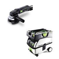 Festool RAS 115 Rotary Sander Sander with CT MINI HEPA Dust Extractor