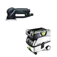 Festool RO 125 Rotex Sander with CT MINI HEPA Dust Extractor