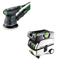 Festool ETS 125 EQ Random Orbital Sander with CT MINI HEPA Dust Extrac