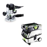 Festool OF 1010 EQ Router   CT Mini Dust Extractor Package