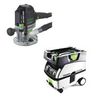 Festool OF 1400 EQ Router   CT Mini Dust Extractor Package