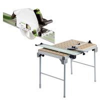 Festool TS 75 EQ Plunge-Cut Saw with T-Loc plus MFT/3 Multi-Function T