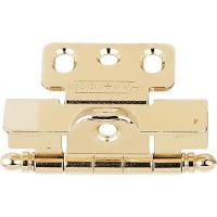 Amerock Polished Brass Cabinet Hinge, Full Wrap