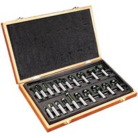 "WoodRiver 20 Piece Anti-Kickback Router Router Bit Set 1/2"" Shank"